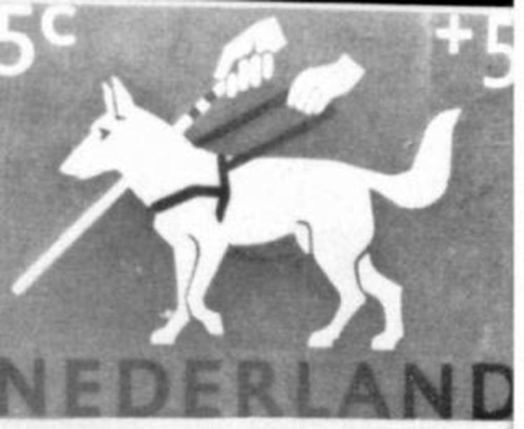 Dutch stamp1930 for servicedogs